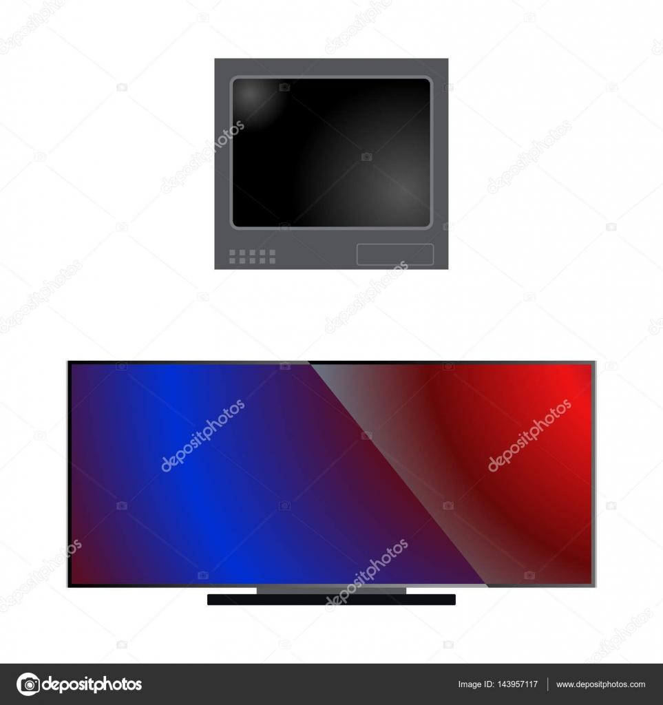 TV-LCD-Monitor Vorlage elektronisches Gerät Technologie digitale ...