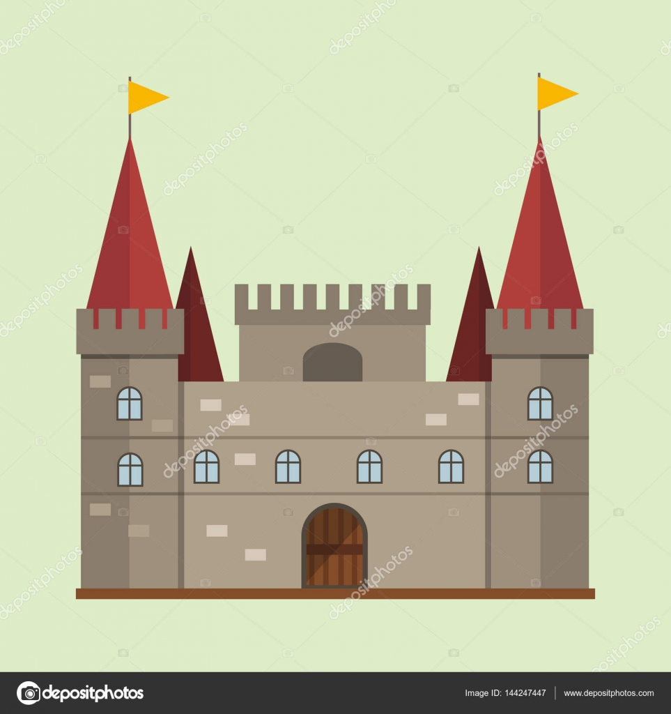 House design cartoon - Cartoon Fairy Tale Castle Tower Icon Cute Architecture Fantasy House Fairytale Medieval And Princess Stronghold Design Fable Isolated Vector Illustration