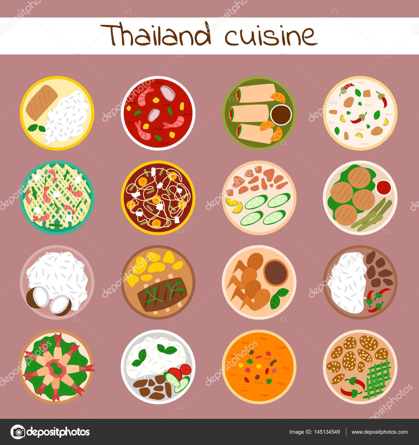 Nationalen Traditionelle Thailandische Kuche Thailand Asiatischen