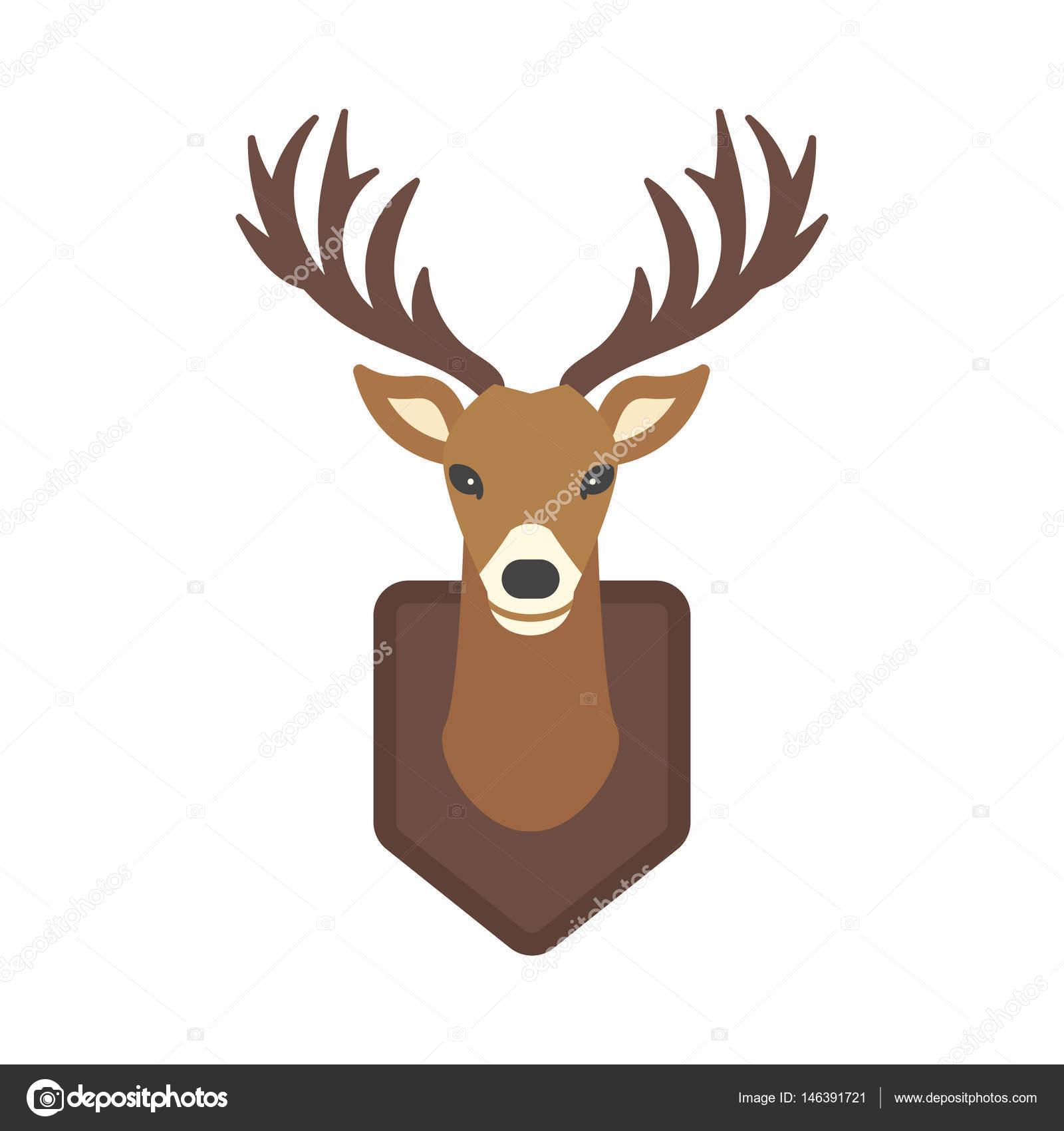 Deer Head Wild Silhouette Mammal Reindeer Wildlife Antler Graphic
