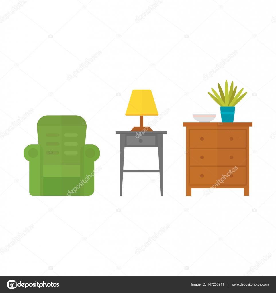 Bútor Lakberendezés ikonkészlet fedett szekrény belső szoba ...