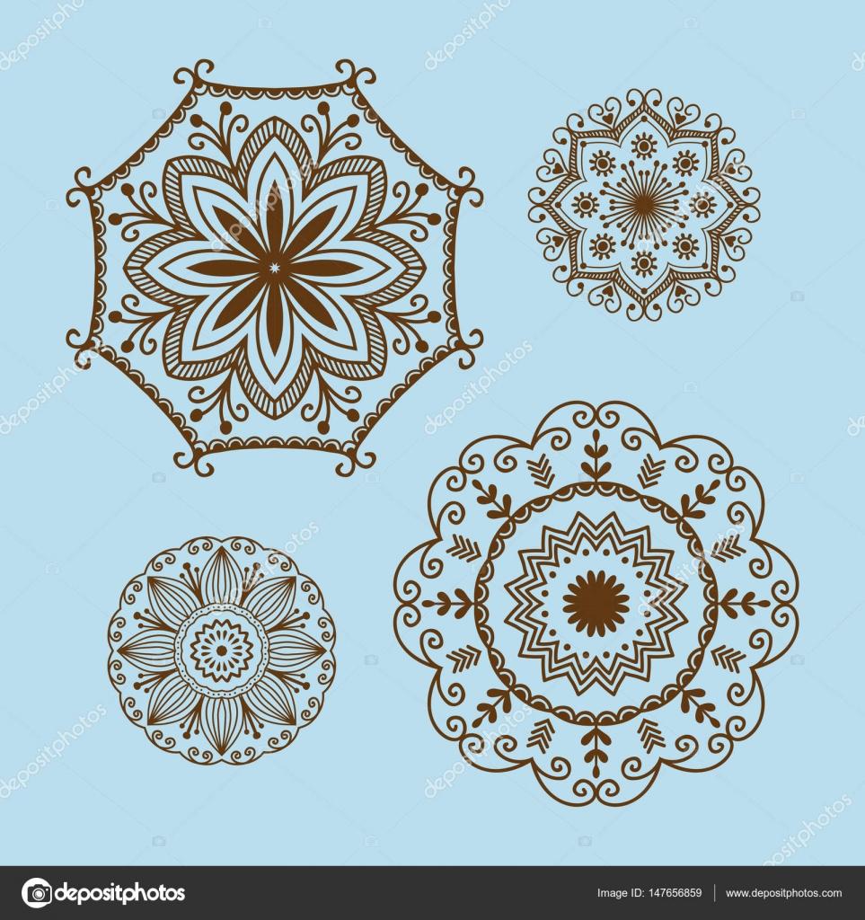 Traditional Mandala Flower Design