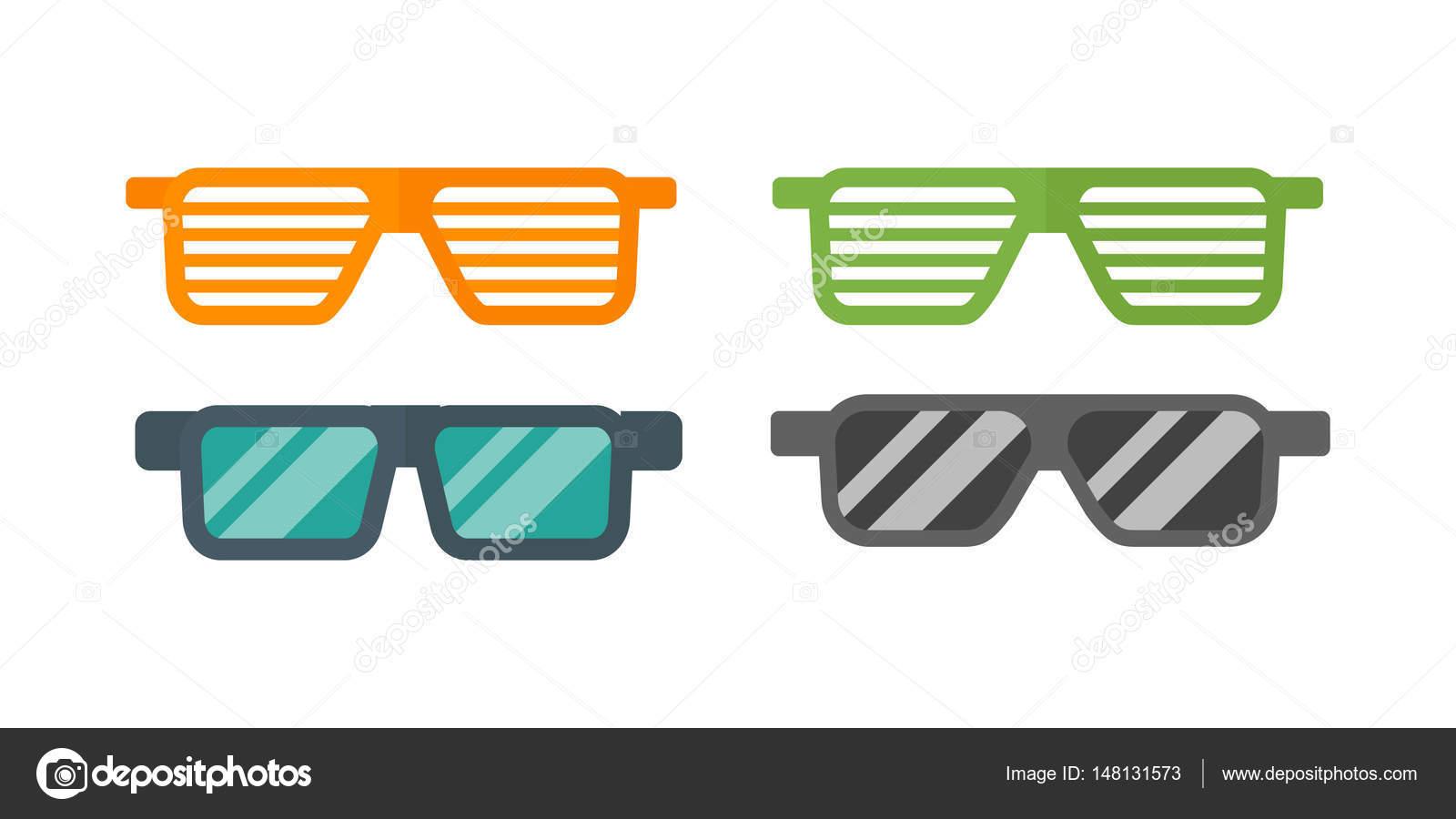 Mode-Set Sonnenbrille Retro-Zubehör Vintage Kunststoffrahmen moderne ...