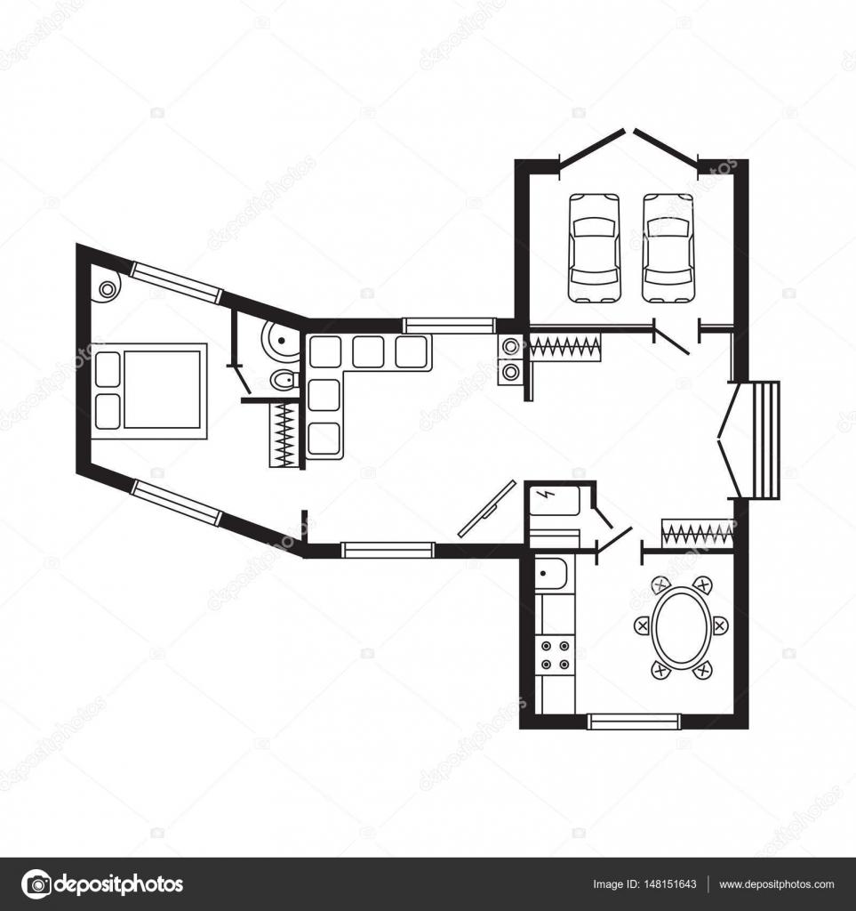 Oficina Moderna Plan Arquitect Nico Interior Muebles Y  # Muebles Dibujo Arquitectonico