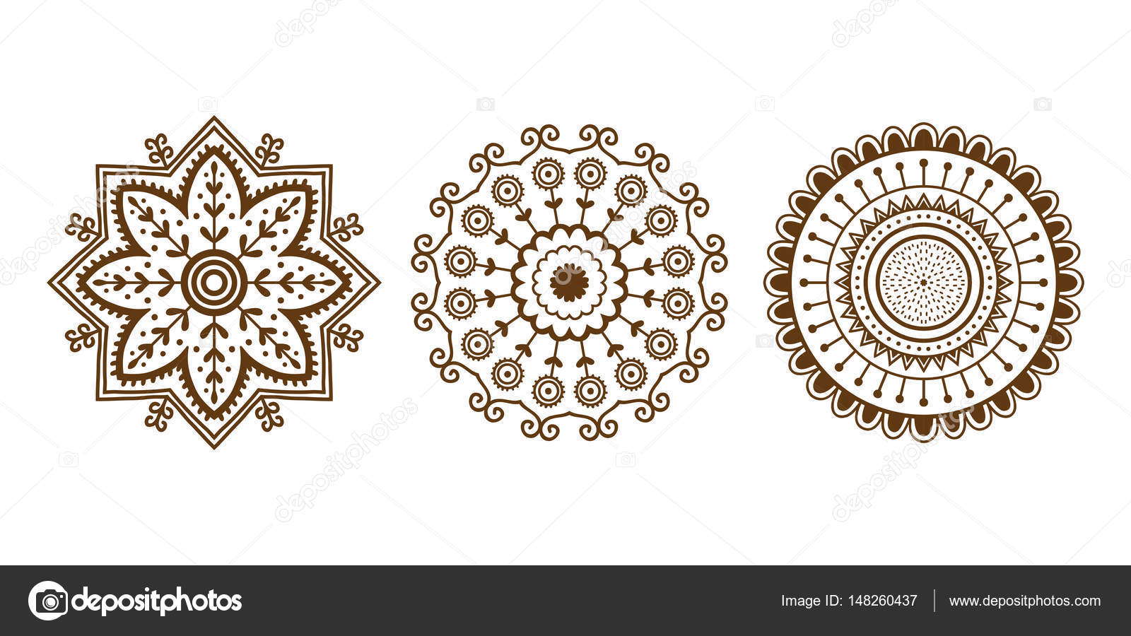 henna tattoo mehndi braun blume vorlage doodle ornamentale. Black Bedroom Furniture Sets. Home Design Ideas