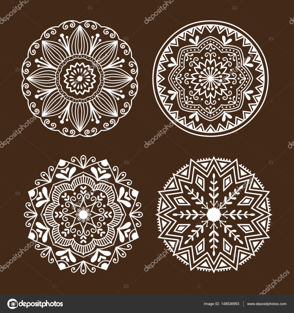 henna tattoo mehndi blume vorlage doodle ornamentale. Black Bedroom Furniture Sets. Home Design Ideas