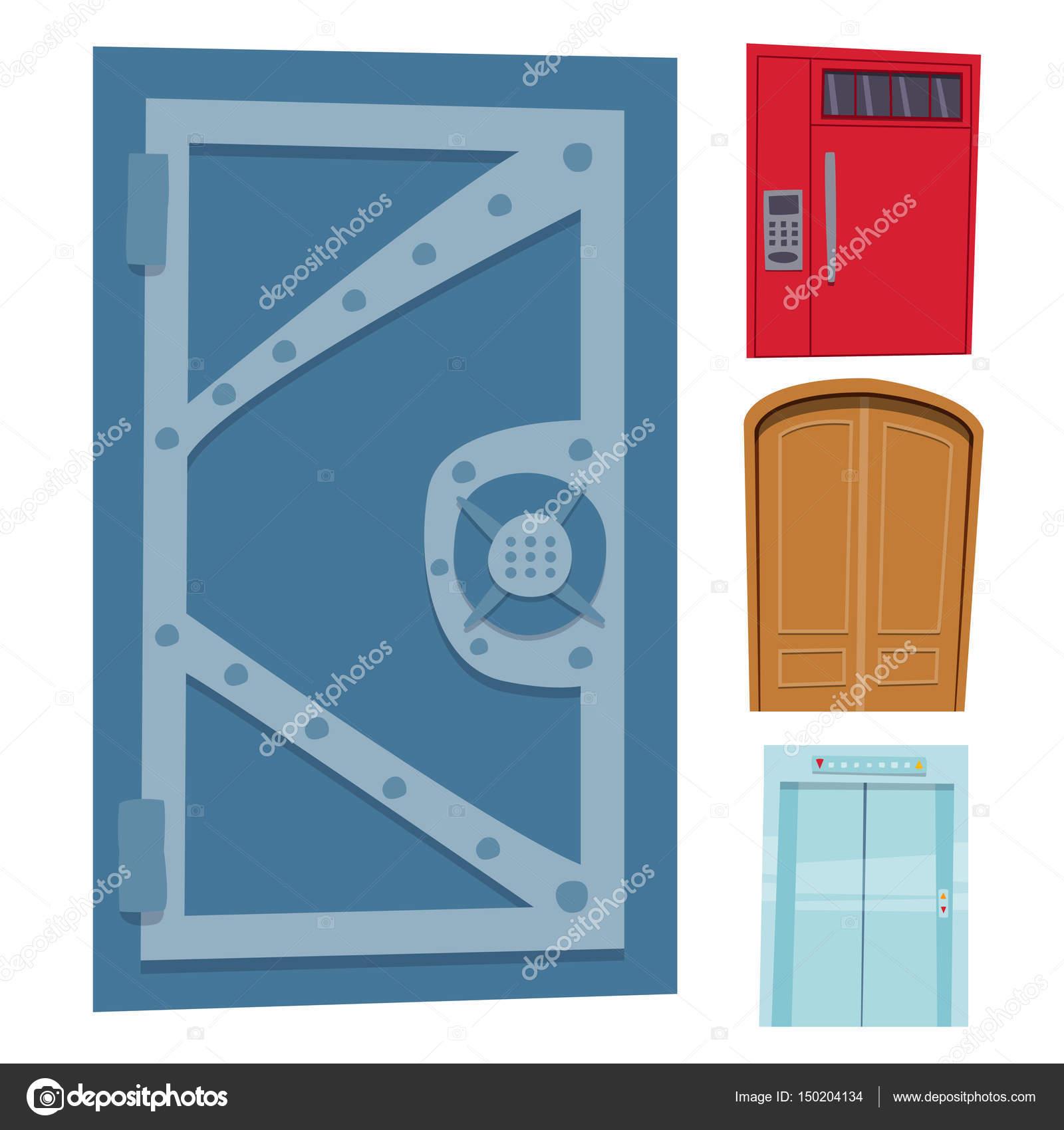 open front door illustration door clipart color door front to house and building flat design style isolated vector illustration modern new decoration open elegant room lock