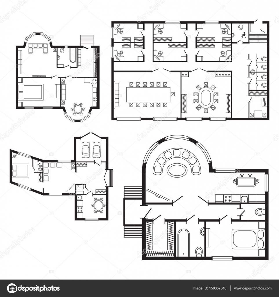 Oficina Moderna Plan Arquitect Nico Interior Muebles Y  # Muebles Dibujos Para Colorear