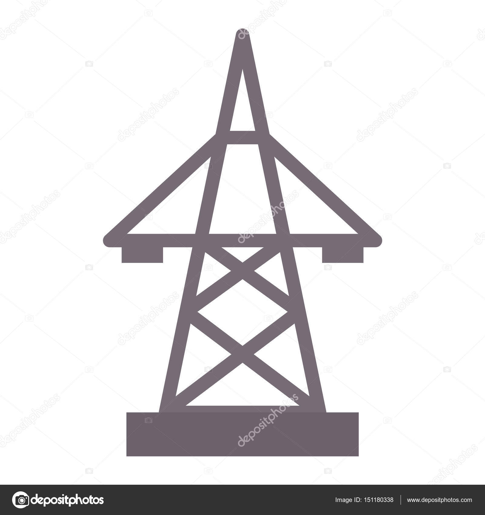 Electric pole icon vector illustration electrical technology