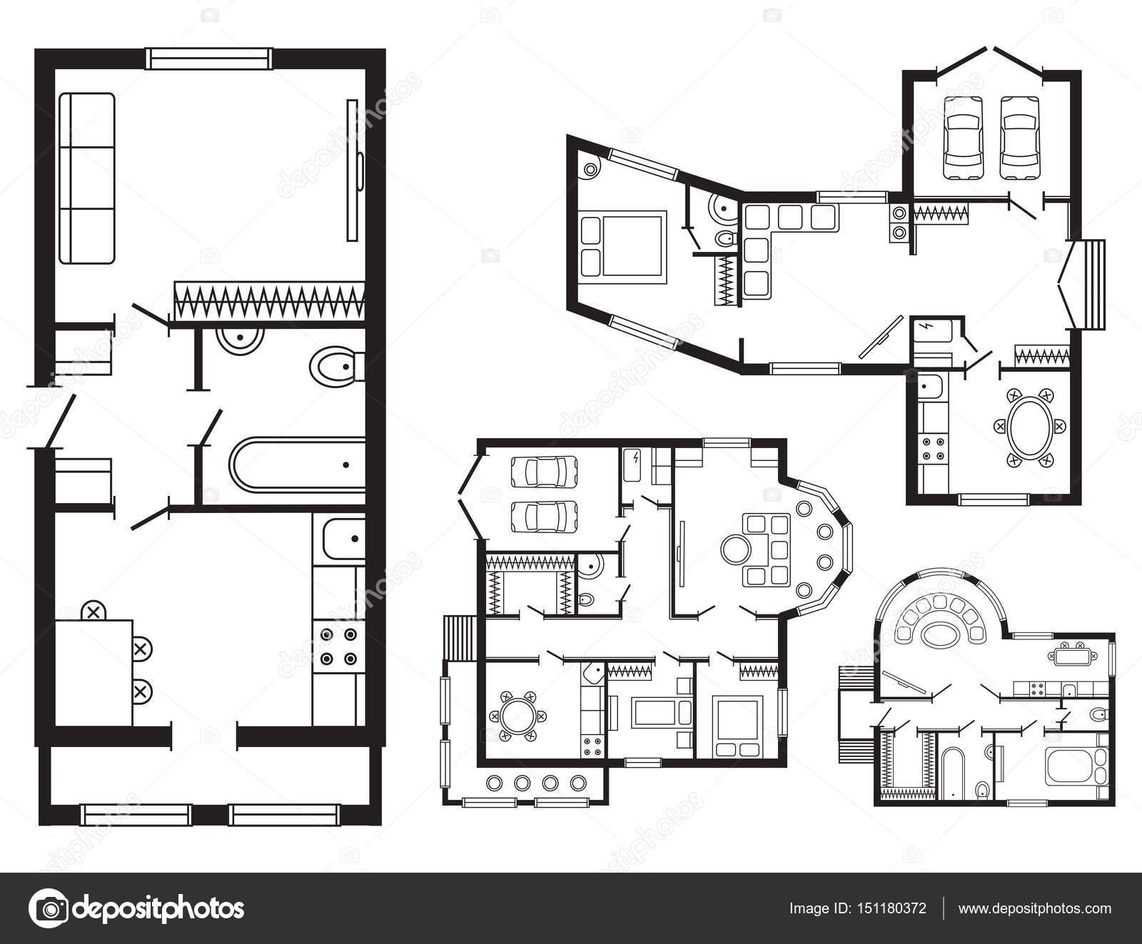 Bureau Moderne Plan Architectural Intérieur Meubles Et