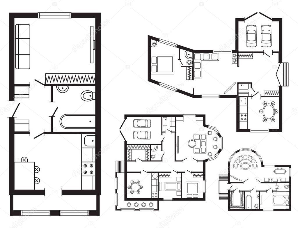 Ufficio moderno piano architettonico interni mobili e for Stock mobili ufficio