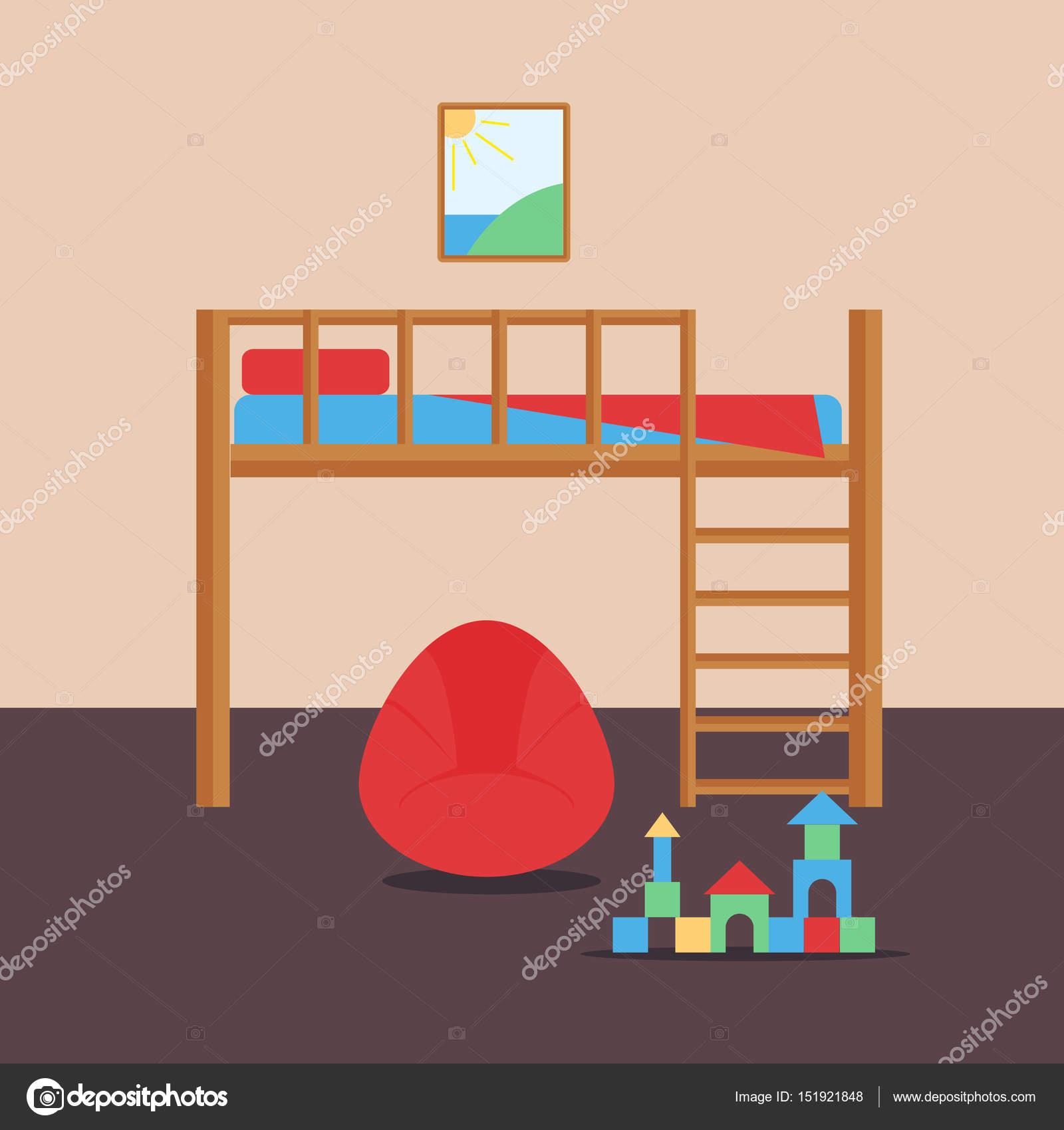 Interior de dormitorio cómodo bebé acogedora habitación decoración ...