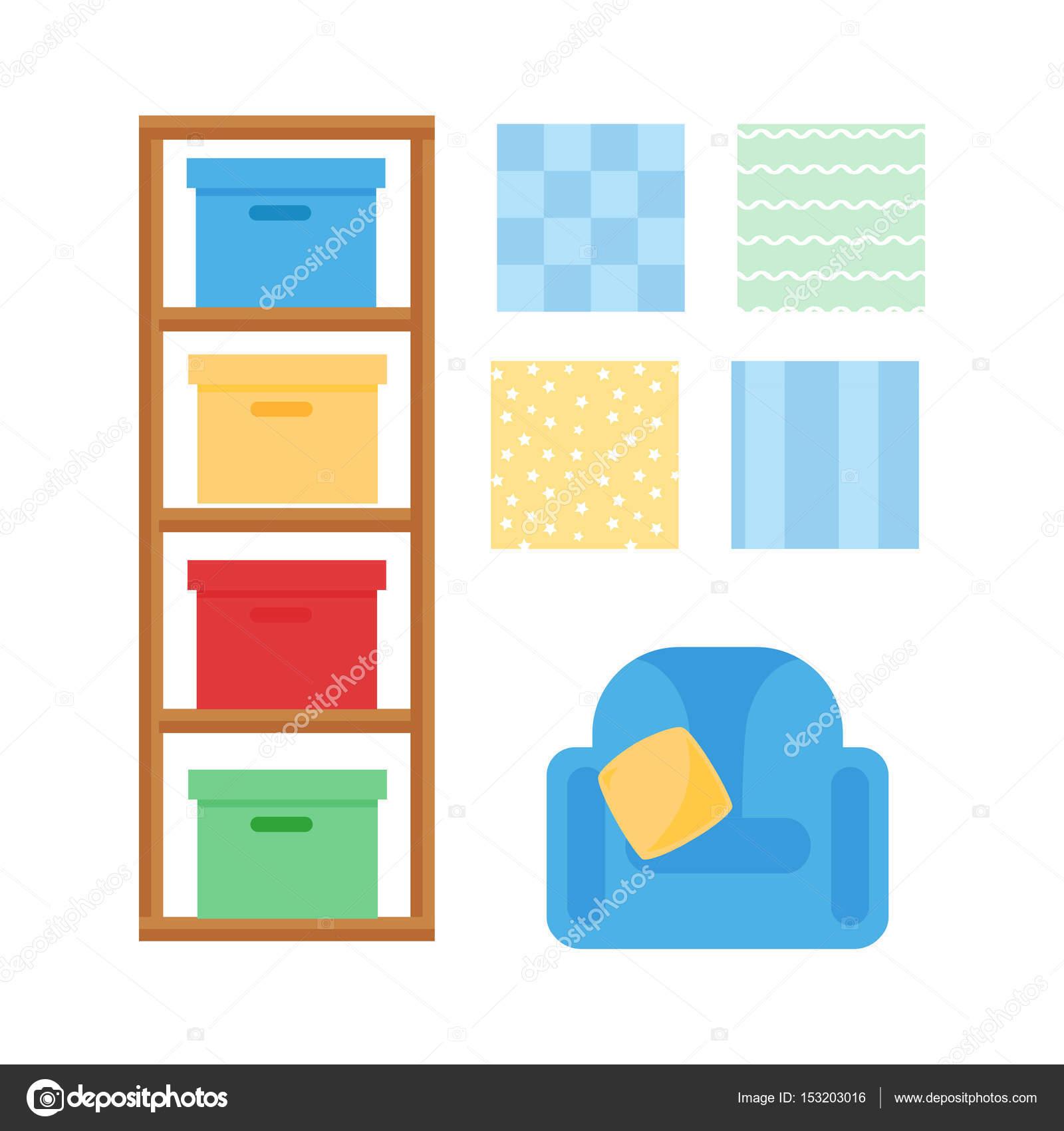 Interior De Dormitorio C Modo Beb Acogedora Habitaci N Decoraci N  # Muebles Juguetes Ninos