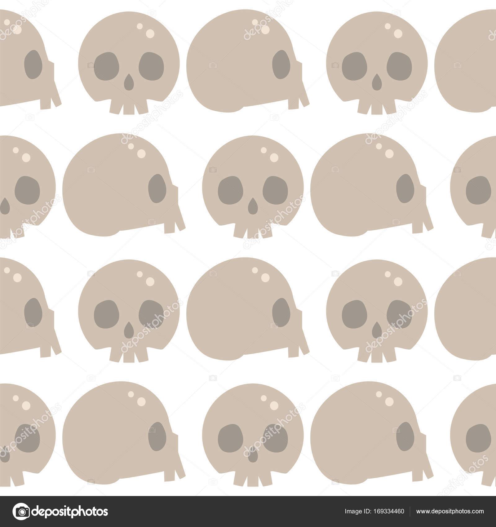 Stil Schädel Gesichter Musterdesign Hintergrund Vektor Illustration ...