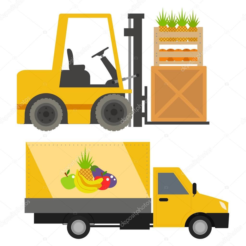 vecteur de chargeur de camions transport voitures v hicules d exp dition par rail de v hicule de. Black Bedroom Furniture Sets. Home Design Ideas
