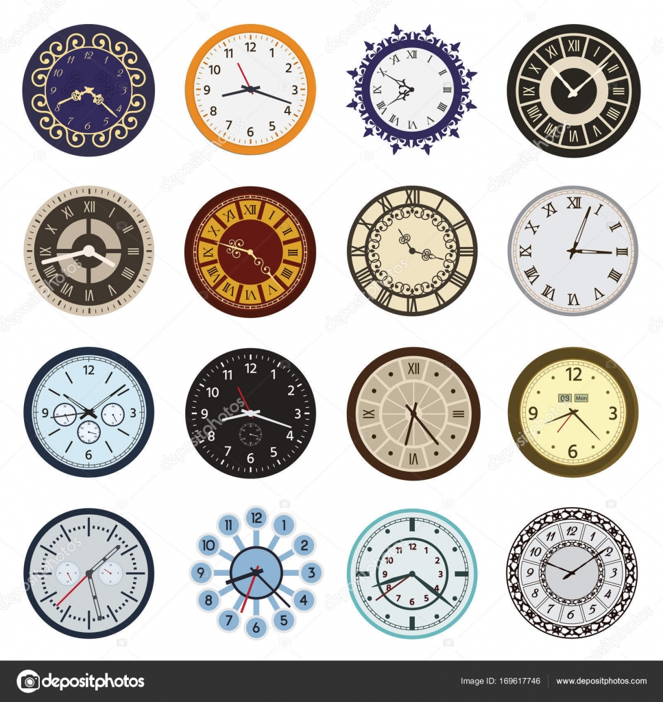 It is an image of Wild Clock Face Designs