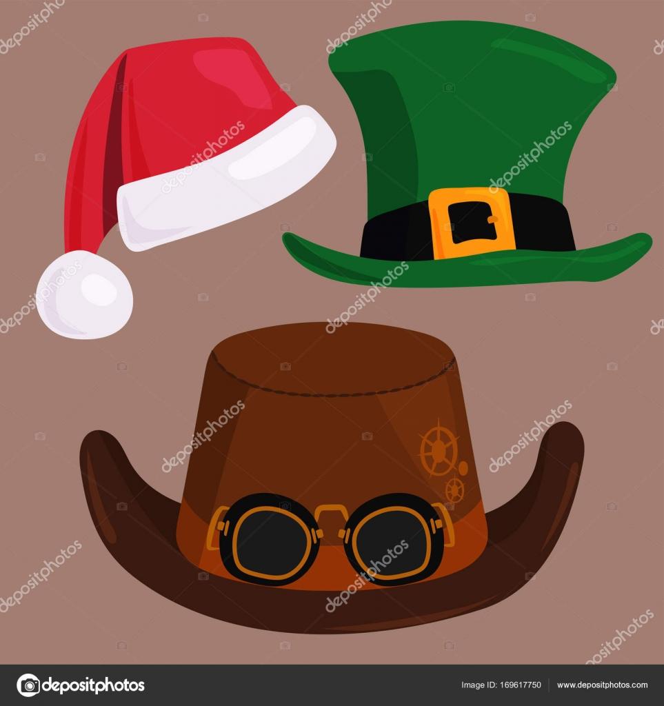 Verschiedene lustige Hüte Mützen für Party Urlaub und Maskerade ...