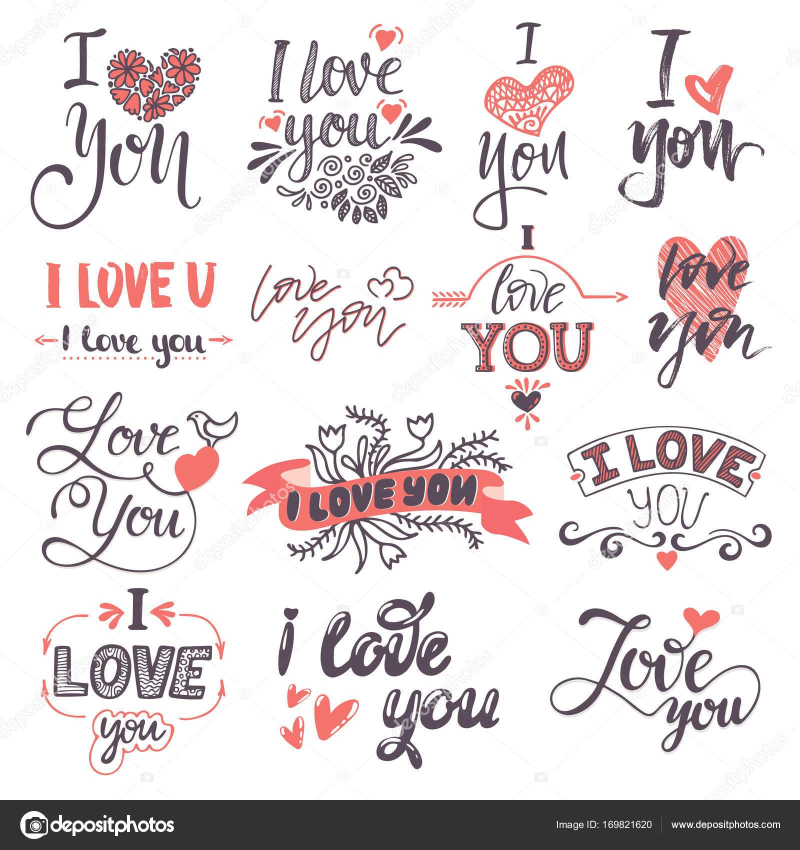Eu Te Amo Texto Logotipo Frases Dia Dos Namorados Ou Casamento