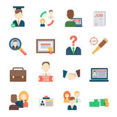 Álláskeresés készlet office emberi erőforrásait felvételi foglalkoztatás munka értekezlet-kezelő vektoros ikonok a munkaerő