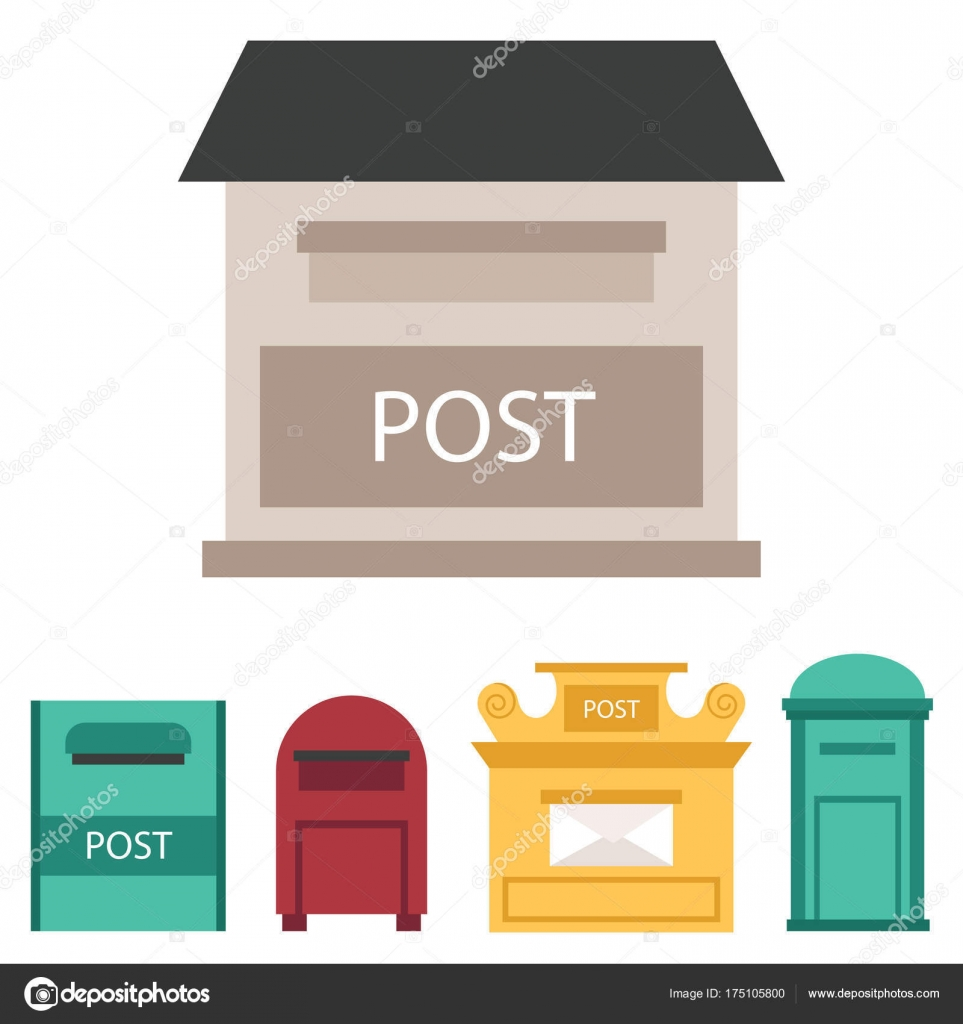 closed mailbox. Beautiful Rural Curbside Open And Closed Mailboxes With Semaphore Flag Postbox Vector Illustration. Traditional Communication Empty Postage Post Mail Box. Mailbox