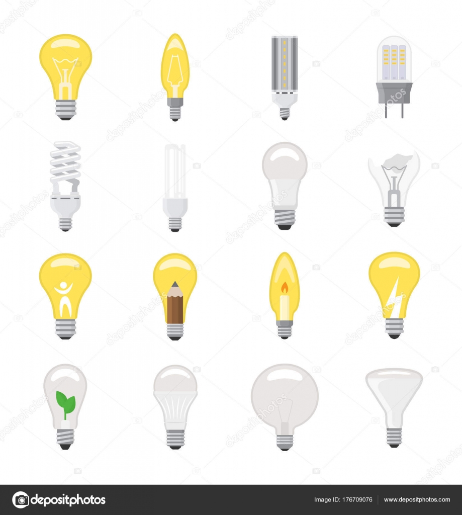 Glühbirne Vektor Glühbirne Idee Symbol Lösung elektrischer ...