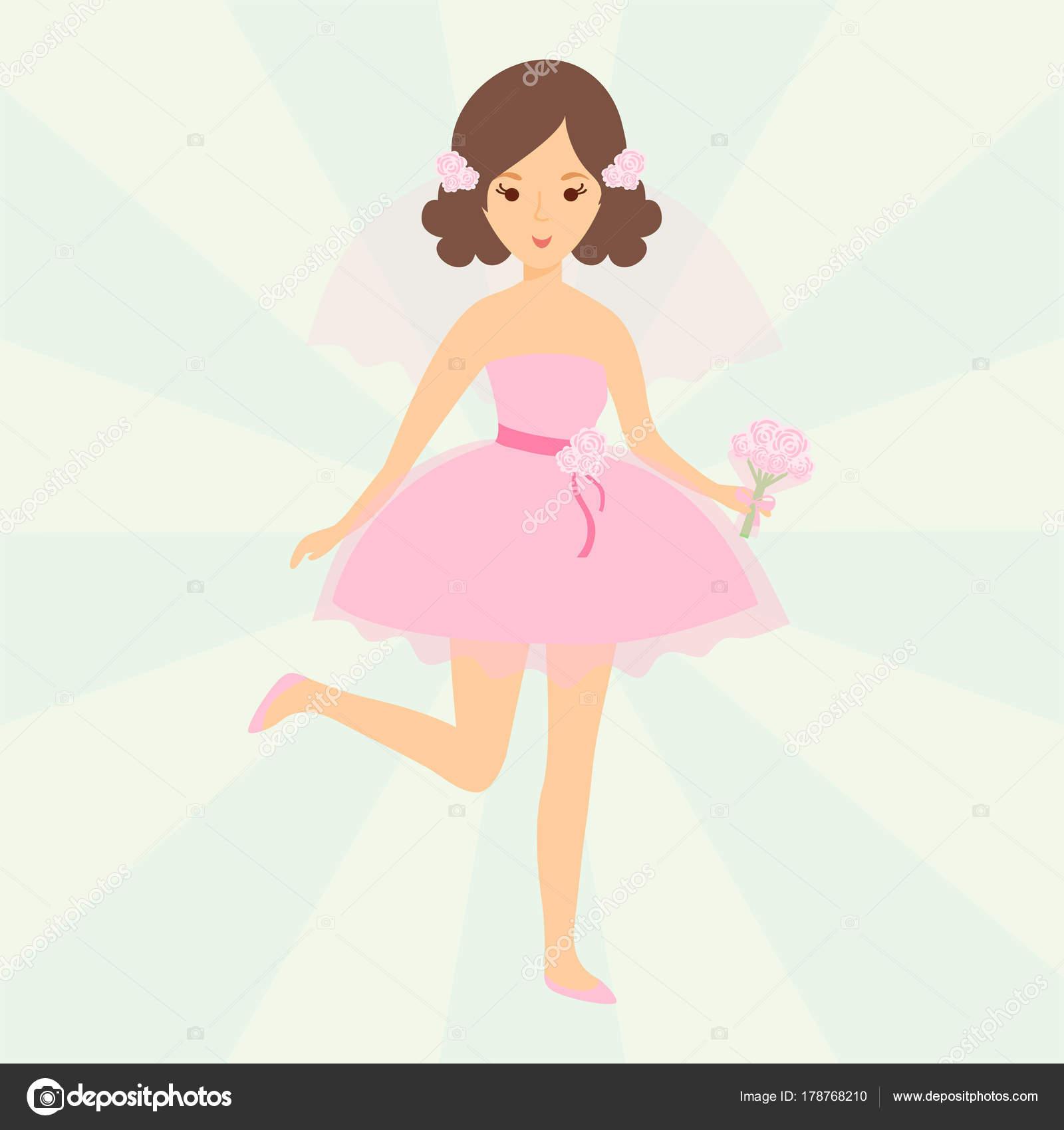 Caracteres de las novias de boda vector ilustración fiesta ...