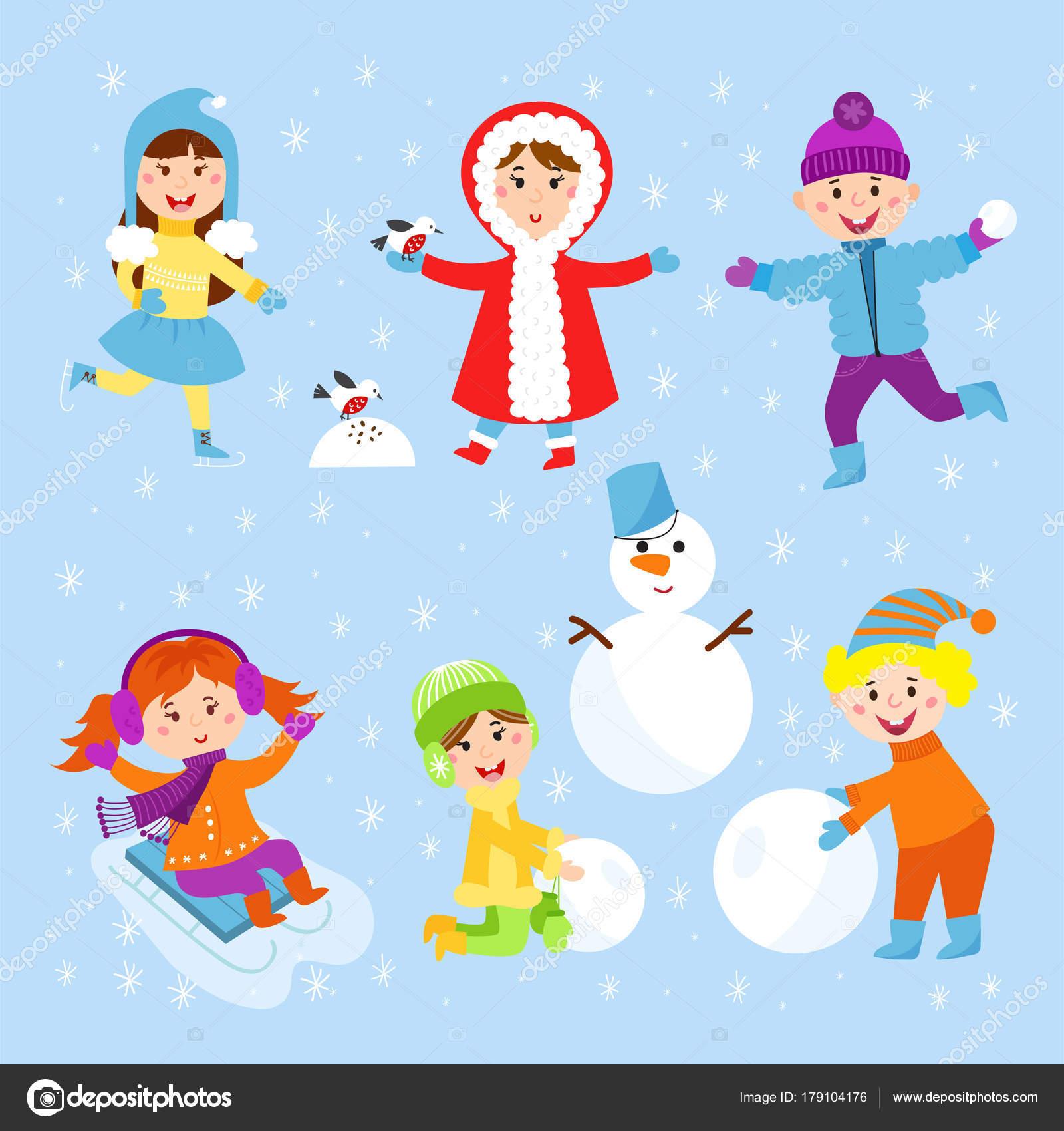 Dibujos Nino Jugando En La Nieve Dibujo Navidad Ninos Jugando A