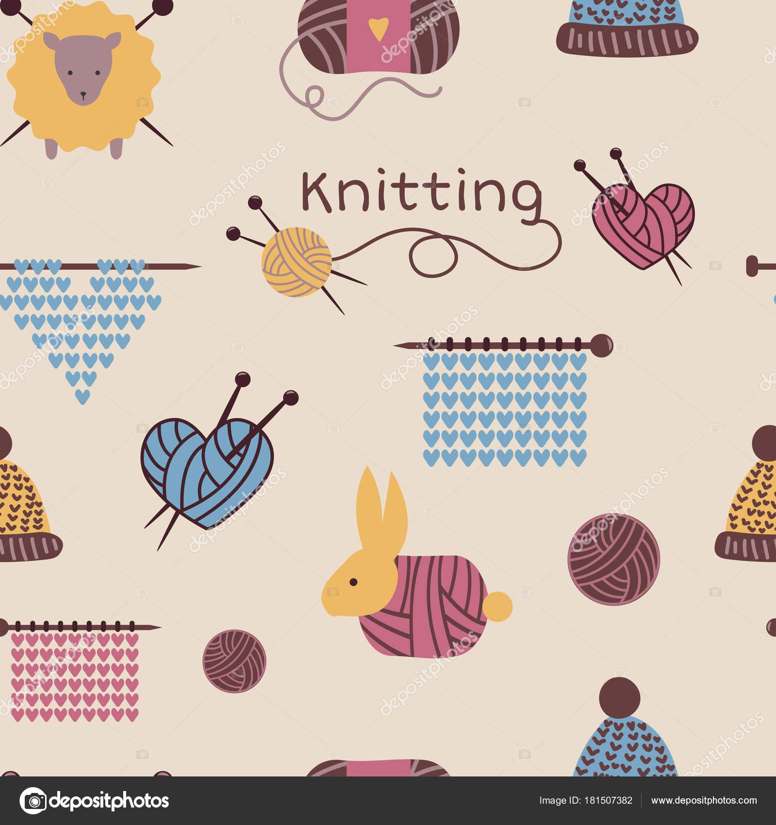 Agujas que hacen punto del patrón fondo de géneros de punto de lana ...