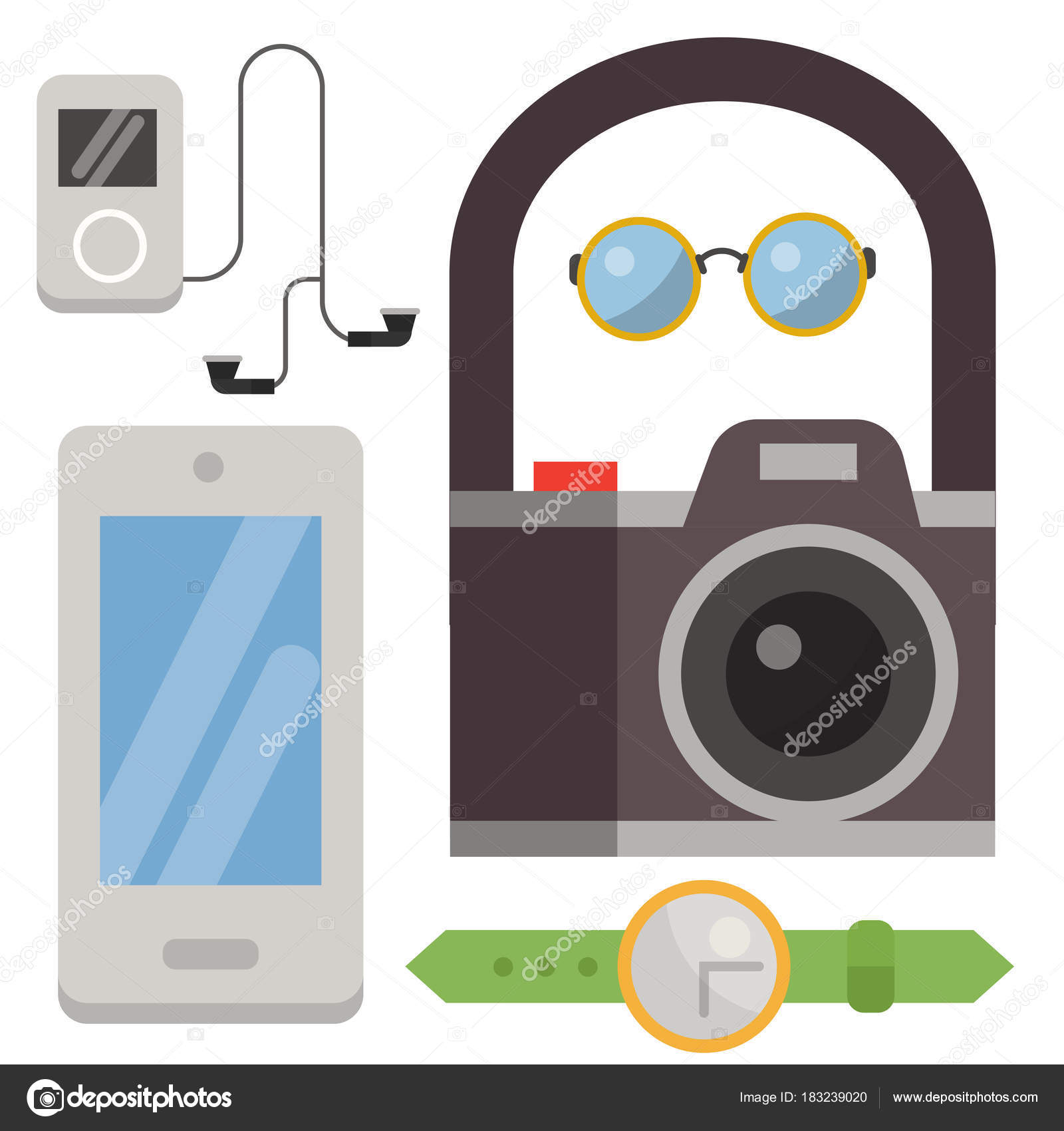Vintage Styled Design Hipster Icons Vector Signs And Symbols