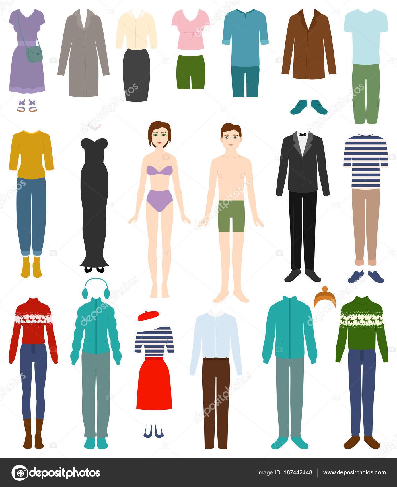 10c84a9462 Ropa hombre vestido con ropa e ilustración de accesorios de moda masculina  o femenina o mujer