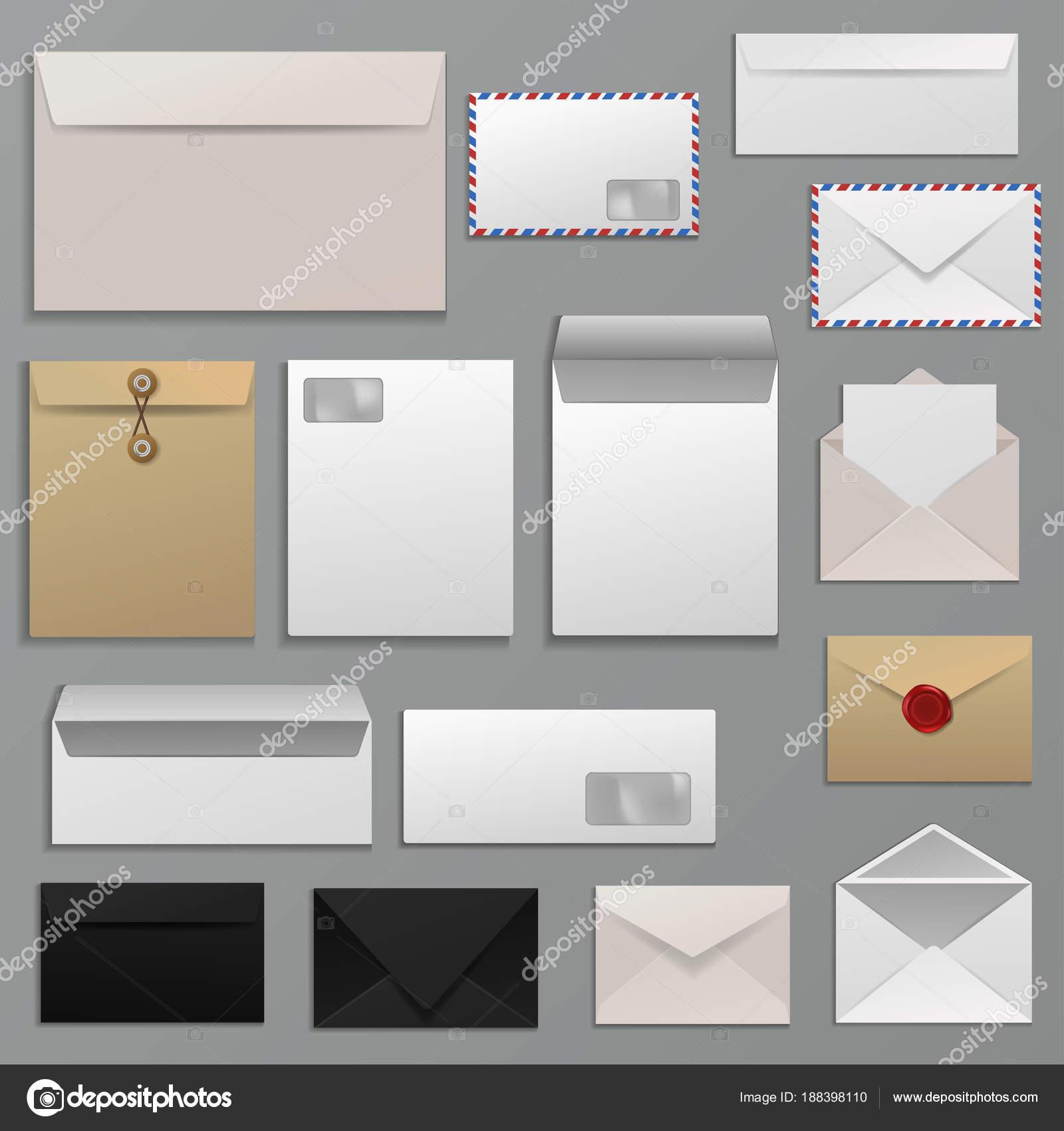 Envolvente del vector en carta en el correo de papel para sobres ...