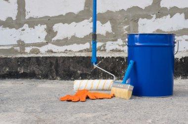 Tools for waterproofing.