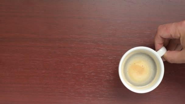 waiter serves coffee