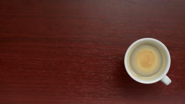 Csésze kávé felülnézet