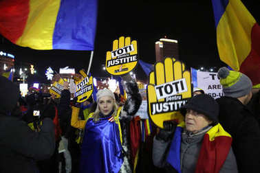 Bucharest, Romania protests