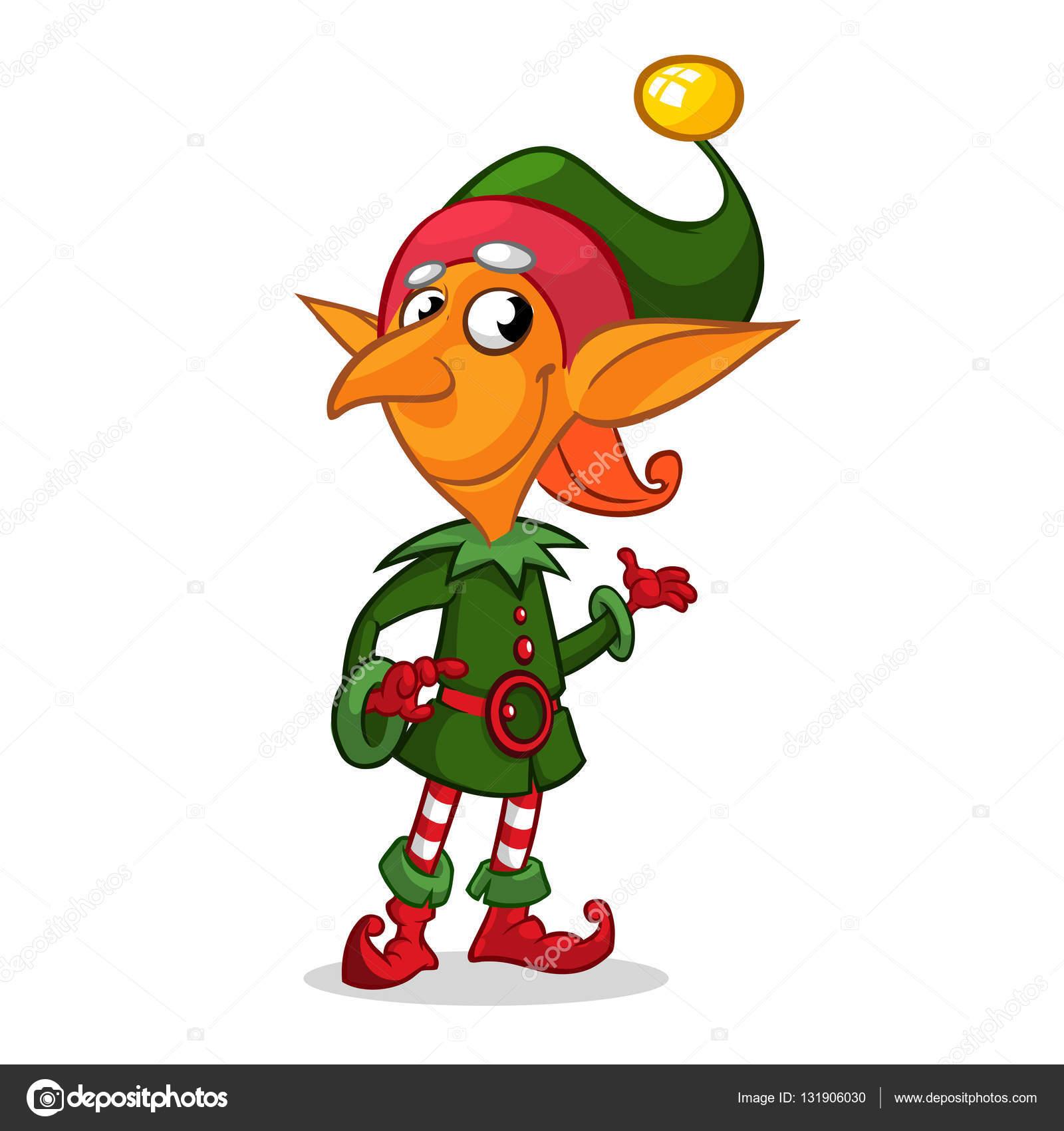 duende do natal dos desenhos animados ilustração vetorial vetor