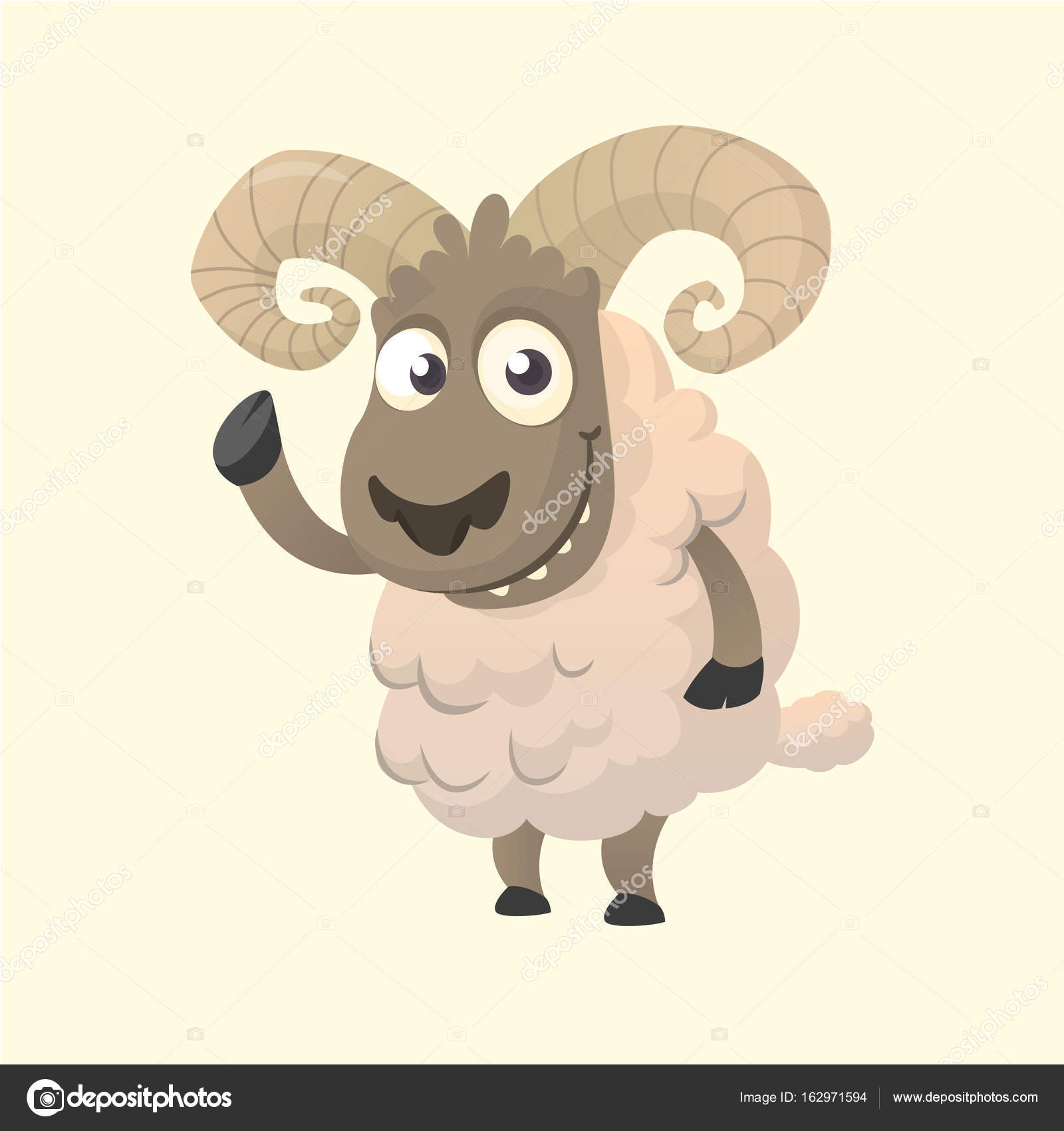 Cute cartoon sheep mascot character. Vector illustration of fluffy ... for cute animated sheep  156eri