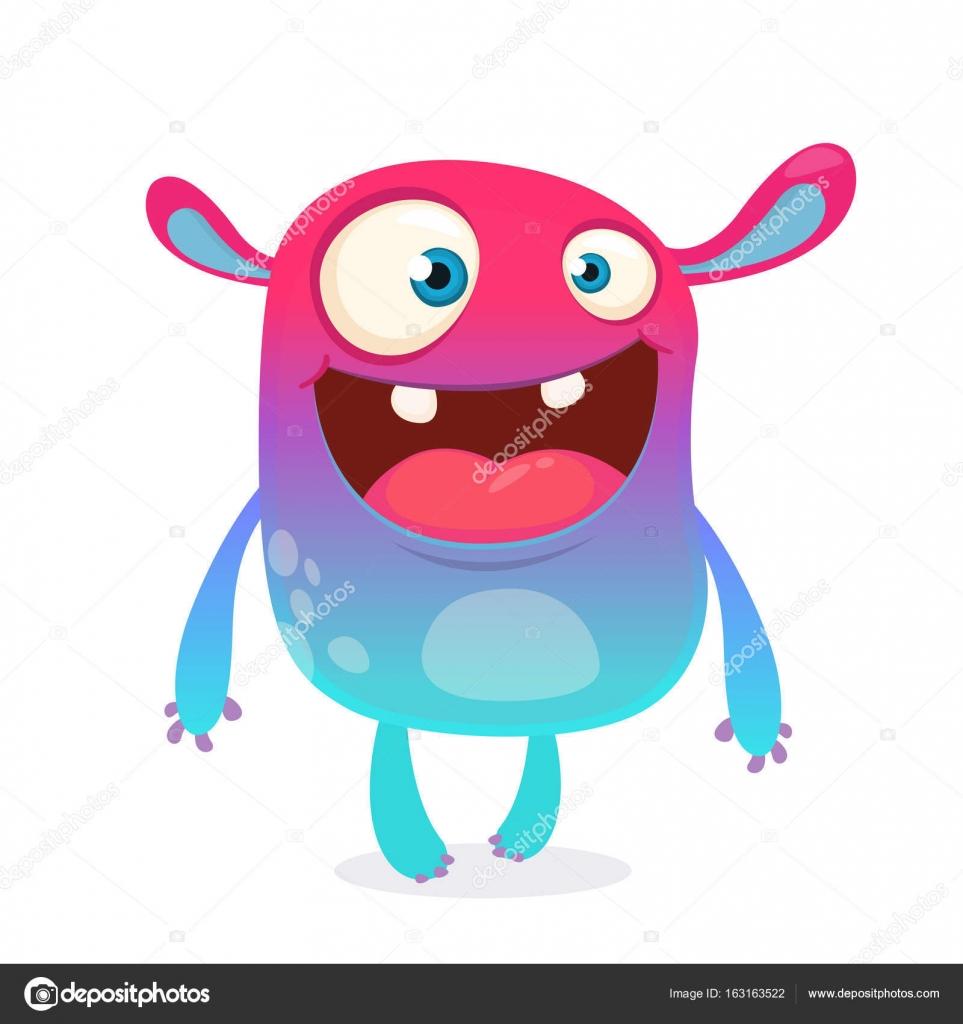 cool cartoon alien purple and pink bizzare colorful alien monster
