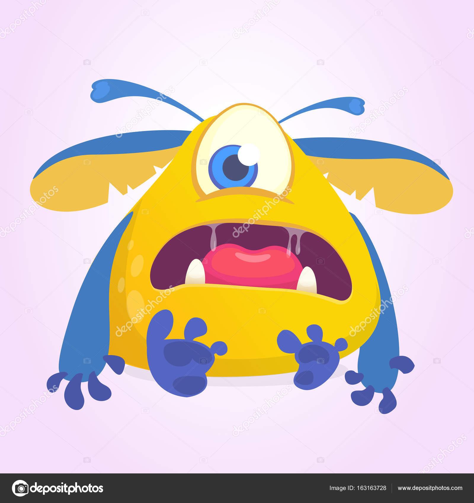 1 Eyed Cartoon Characters : Yellow cartoon character with one eye adultcartoon