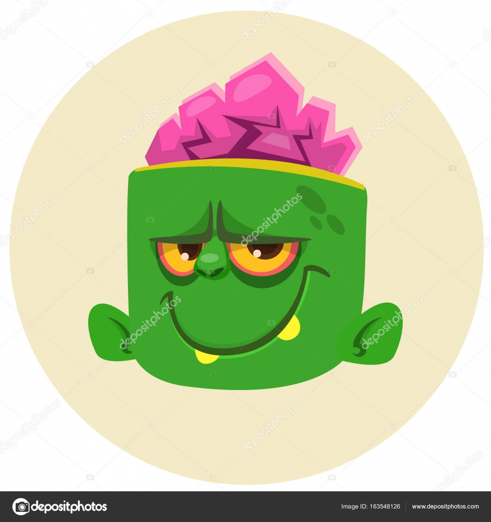 Foto: personaggio cartone testa grande. testa di zombie divertente