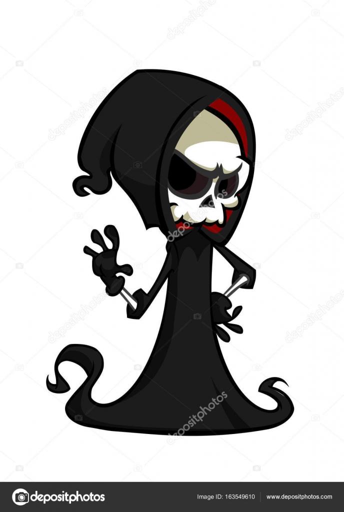 暗い背景に分離された漫画死ハロウィーン モンスター マスコットの