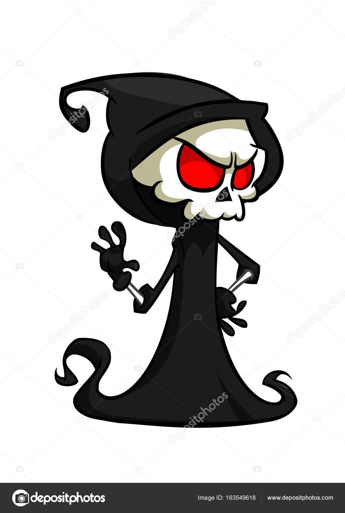 Ilustración vectorial de dibujos animados muerte Halloween monstruo ...