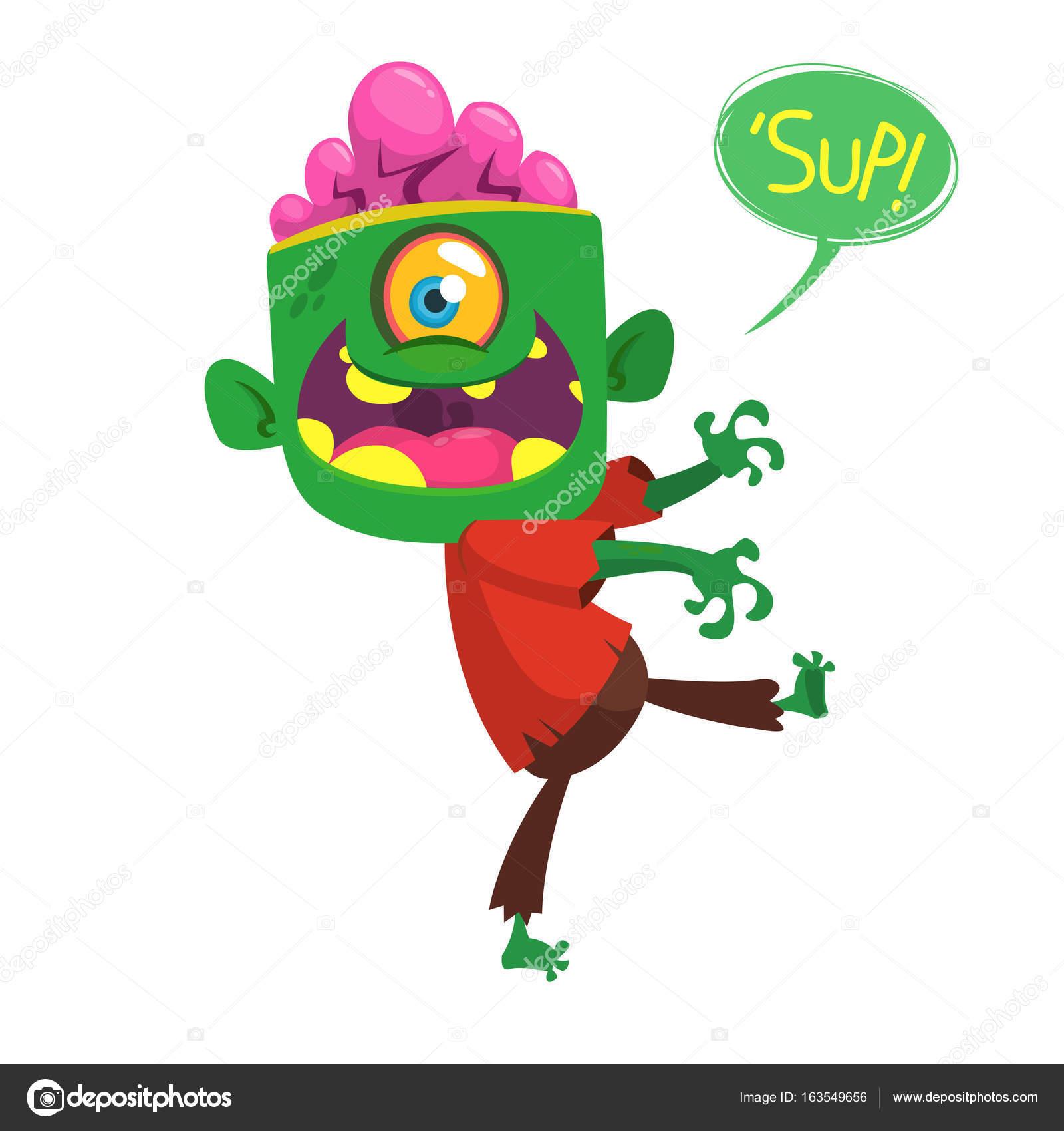 1 Eyed Cartoon Characters : Red cartoon character with one eye ankaperla