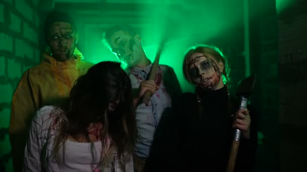 hungry zombies and scary