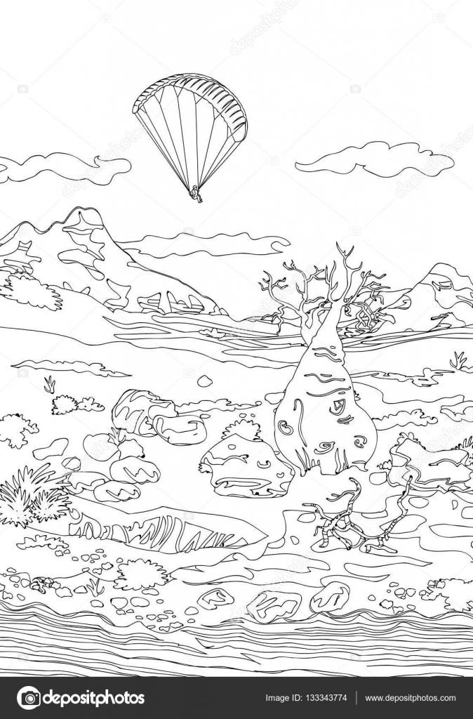 Dibujos: paisajes en blanco y negro para imprimir | Dibujo de ...