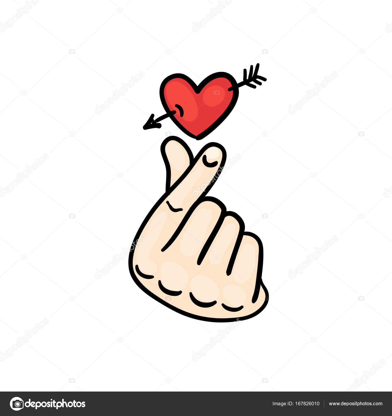 hand hearts korean - HD963×1024