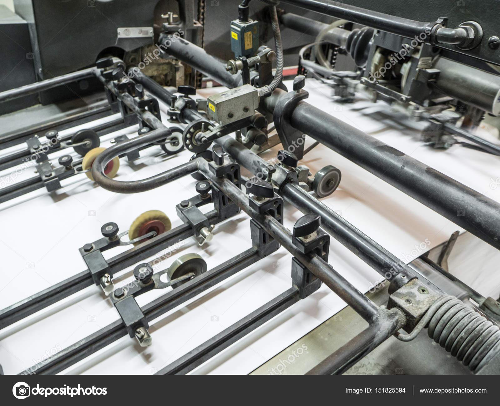 Printing Press Machine In A Modern House Stock Photo