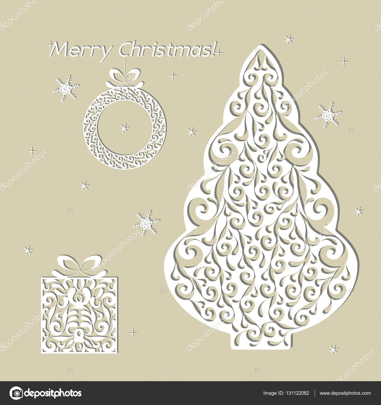 Tarjeta Del Libro Blanco De La Calada De Navidad Plantilla
