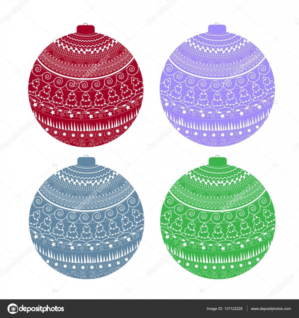 conjunto de bola colorida com contorno branco teste padrão feriado