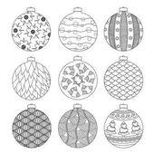 satz von schwarzen und wei en weihnachtskugel stockvektor 36295905. Black Bedroom Furniture Sets. Home Design Ideas